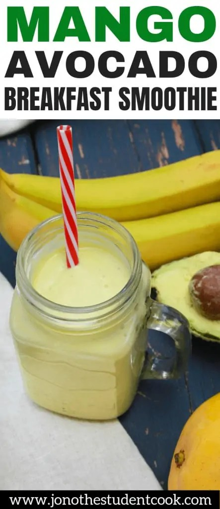 Mango Avocado Breakfast Smoothie