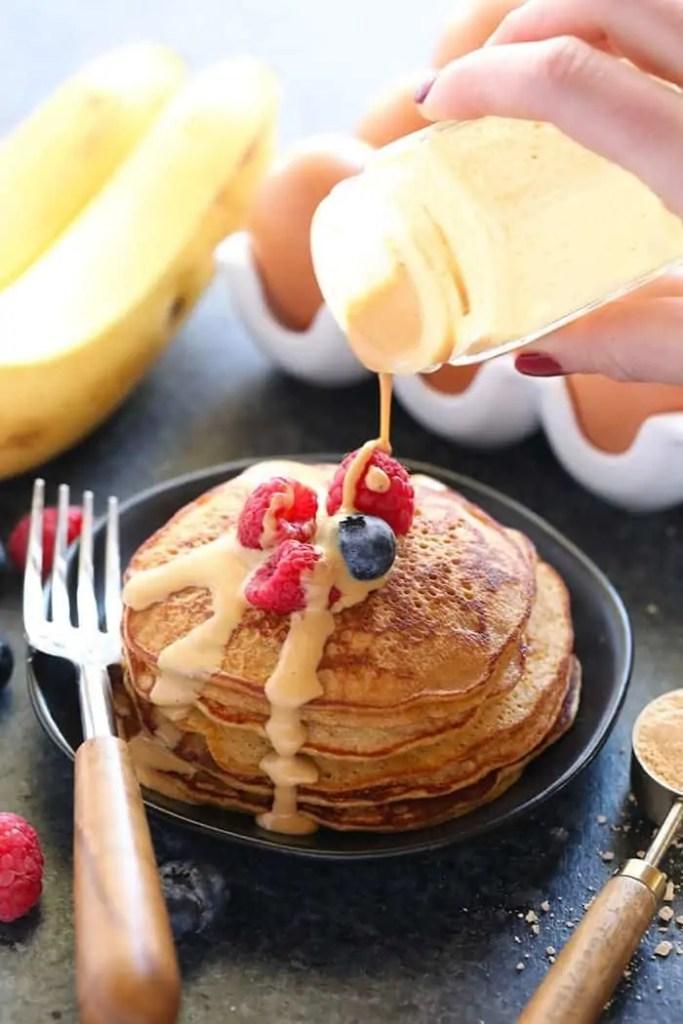 3-Ingredient PB2 Pancakes