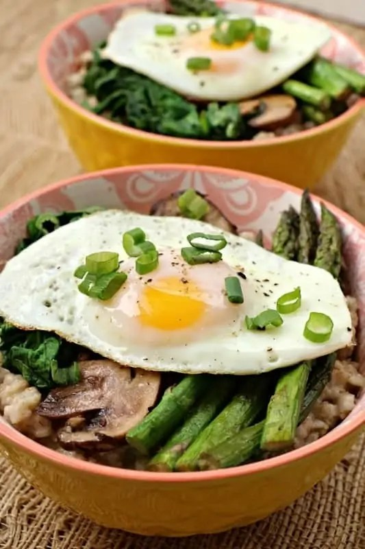 Savory Veggie Oatmeal Bowl