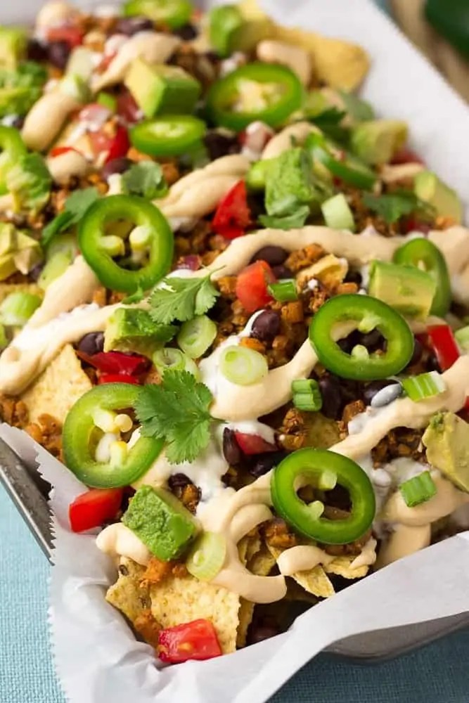 Ultimate Fully Loaded Vegan Nachos