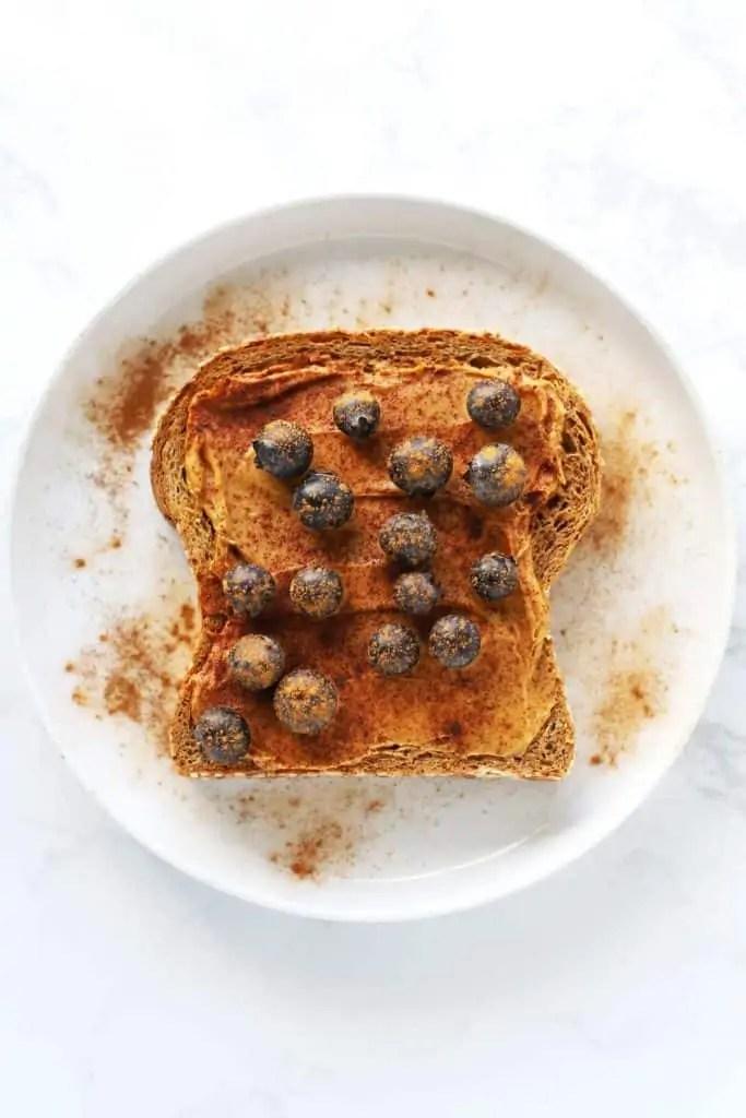 Peanut Butter Blueberry Toast