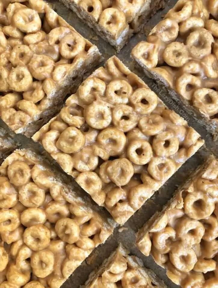 3 Ingredient Peanut Butter Cheerio Bars