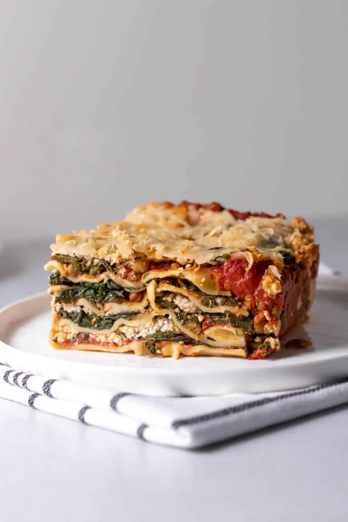 Vegan Spinach Lasagna with Cashew Ricotta