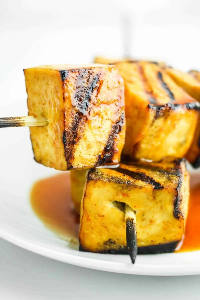 Sweet and Spicy Grilled Tofu