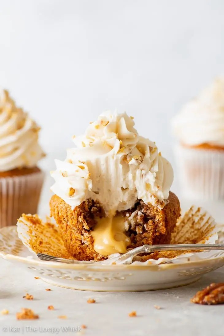 Vegan Maple & Pecan Cupcakes