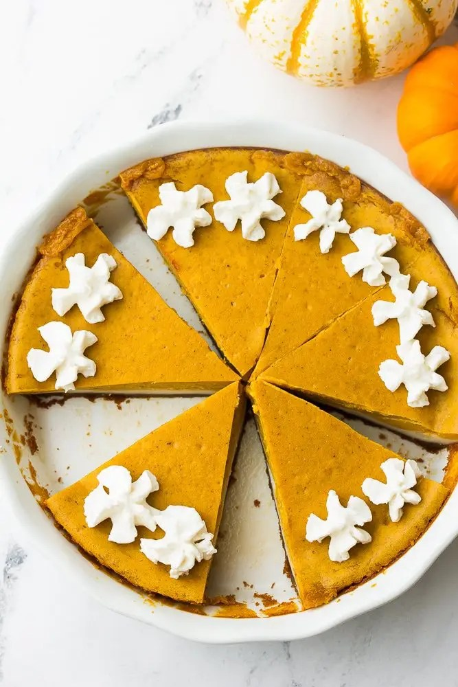 Vegan Double Layer Pumpkin Cheesecake