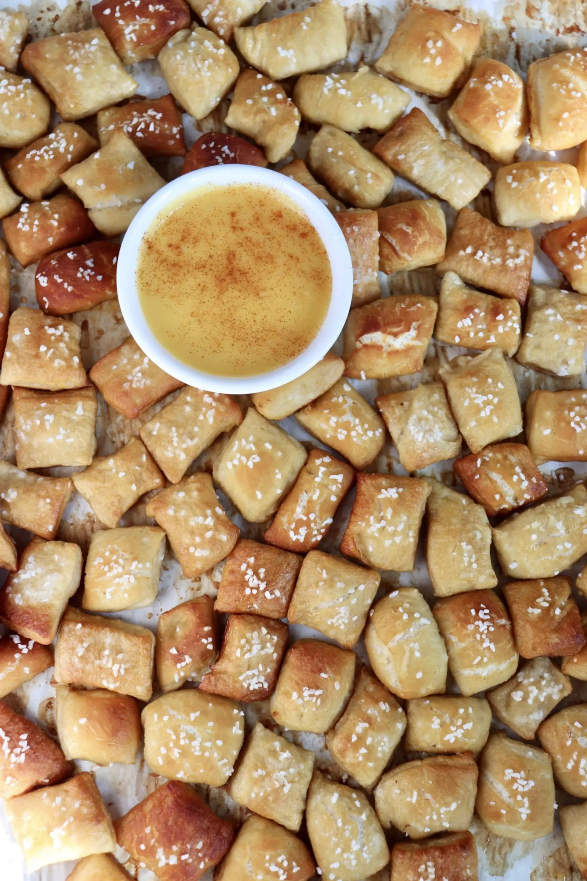 Homemade Soft Pretzel Bites with Vegan Cheese Sauce