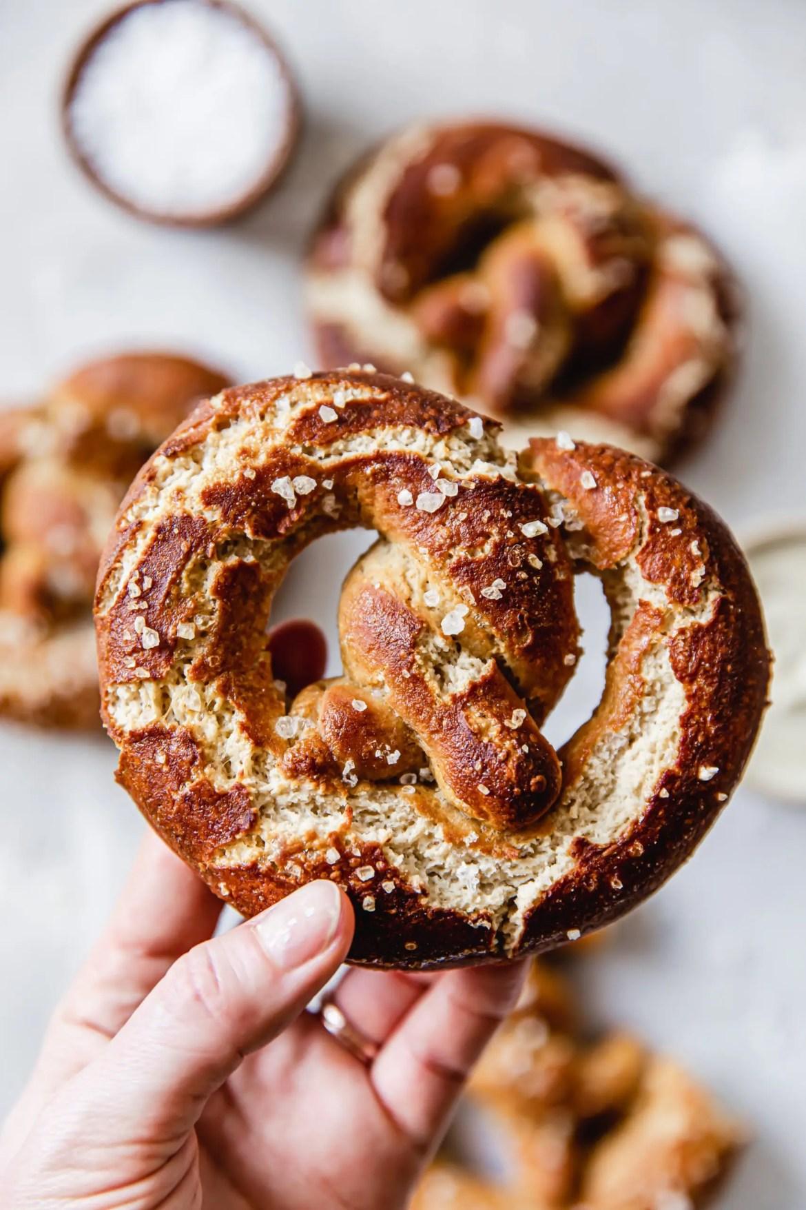 Vegan & Gluten-Free German Soft Pretzels
