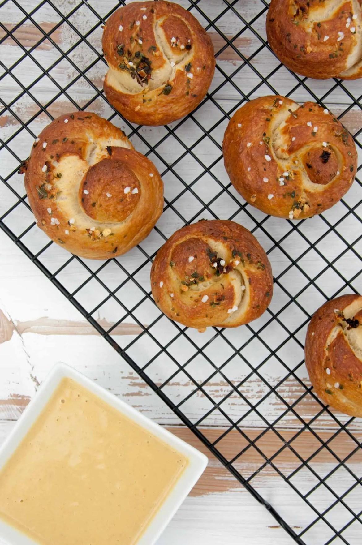Vegan Pretzel Garlic Knots Recipe