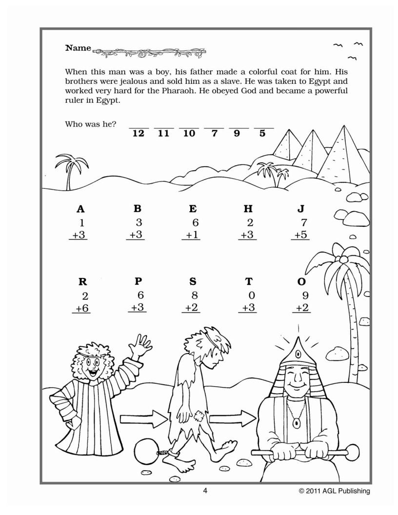 VALUable Bible Tools Math Activities