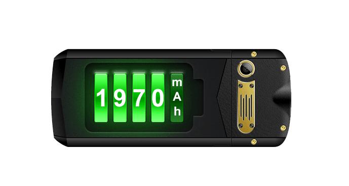 Odolný tlačítkový telefon AGM M2 kapacita baterie