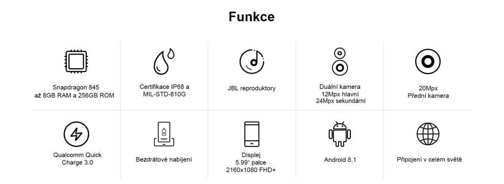 Nejvýkonnější odolný telefon AGM X3 funkce