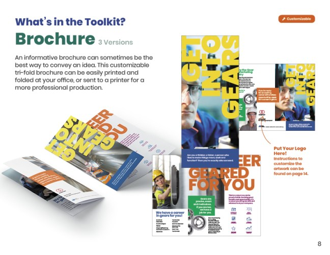 Get Into Gears Toolkit User Guide Brochure Page