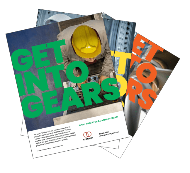 Get Into Gears Toolkit Print Ads