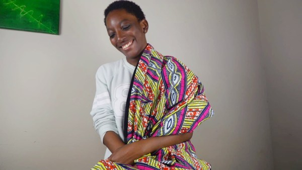African print throw blanket multicolor