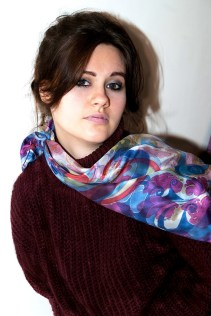 Agnes-Ashe-hand-painted-silk-scarf-Dido-pink-model-x