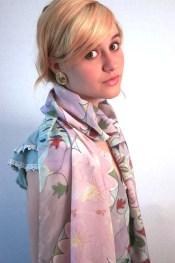 Agnes-Ashe-hand-painted-silk-scarf-Venus-Falls-Pink-Model-x