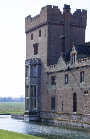 Remodelled in 1860 family accommodation at Oxburgh Hall.