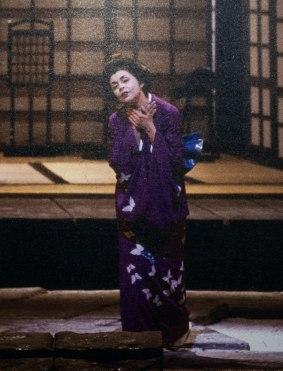 Yasuko Hayashi sings Cio-Cio-San in La Scala's 1985 production of Madama Butterfly.