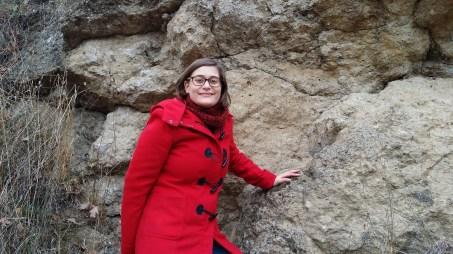 Io e un affioramento di rocce di impatto (sueviti).