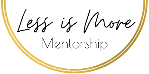Less Is More Mentorship Logo Agnese Rudzate