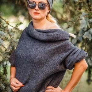 siltas platus megztinis