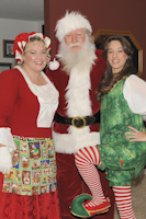Santa and Mrs. Claus, along with their elf, make a home visit to one special family.