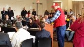 Farmer at drought meeting with CDFA