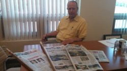 Monterey County Ag Commissioner Eric Lauritzen displays just a few of the newspaper articles written about the report. He tells AgNet West, the report was misleading.