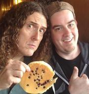 Weird Al Yankovic with CDFA IT programmer and animator Jarrett Heather (photo from ca.gov-Planting Seeds)