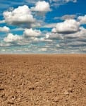 Dry plowed earth agricultural land