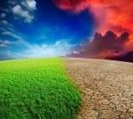 Ecology landscape - climate change concept