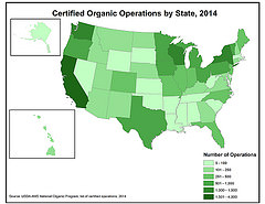 Organic Operations by State