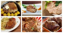 Food set of different meat