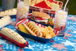 burgers on 4th of July picnic