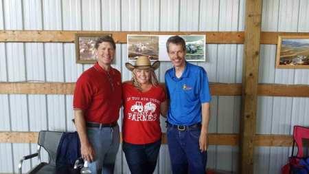 Congressman Ron Kind (left), Sabrina Hill, and Wisconsin farm broadcaster Brian Winnekins.