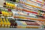 Florida citrus juice on grocery shelf