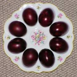 Easter eggs, dyed with onion husks