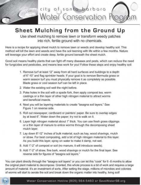 sheet mulching