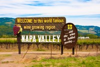 Napa Valley sign-California wine