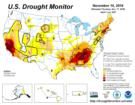 one drought areas