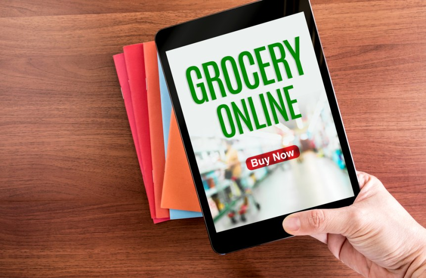 online grocery shopping men