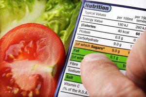 nutritional value food labels