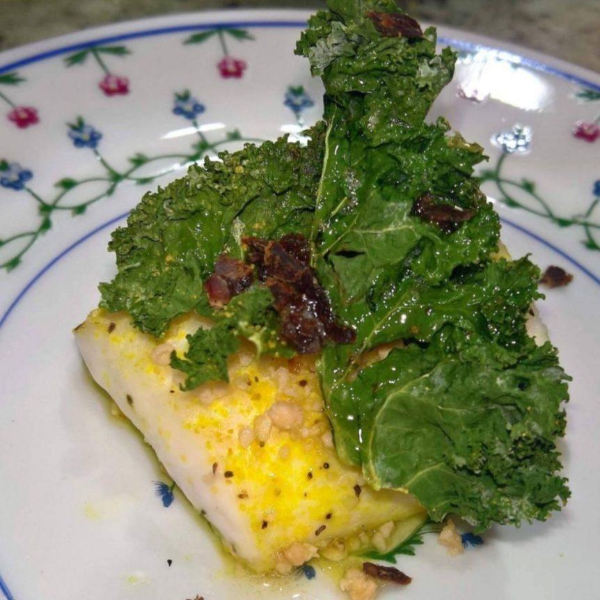almond butter halibut
