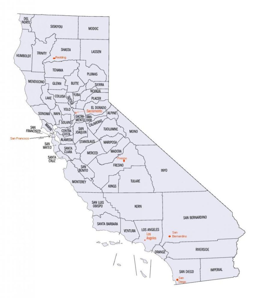 California County Map
