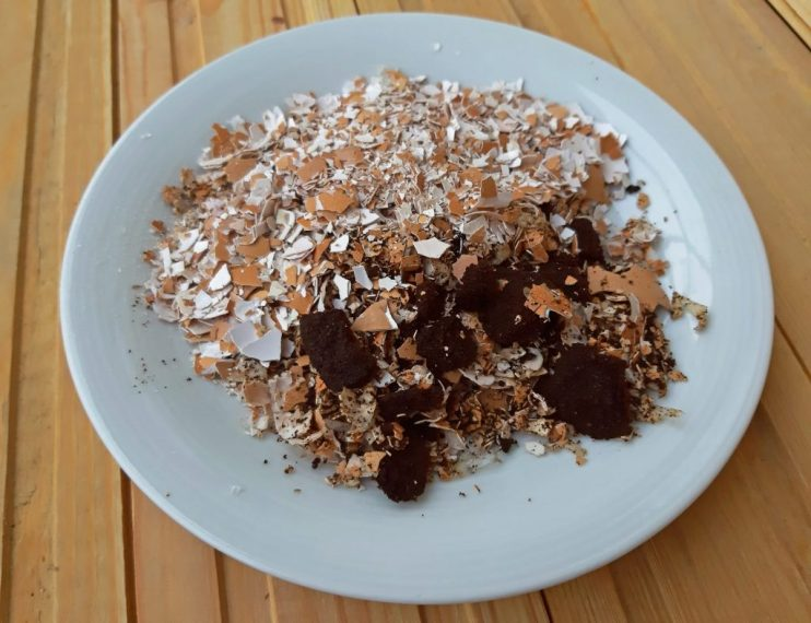 Coffee Grounds and Eggshells