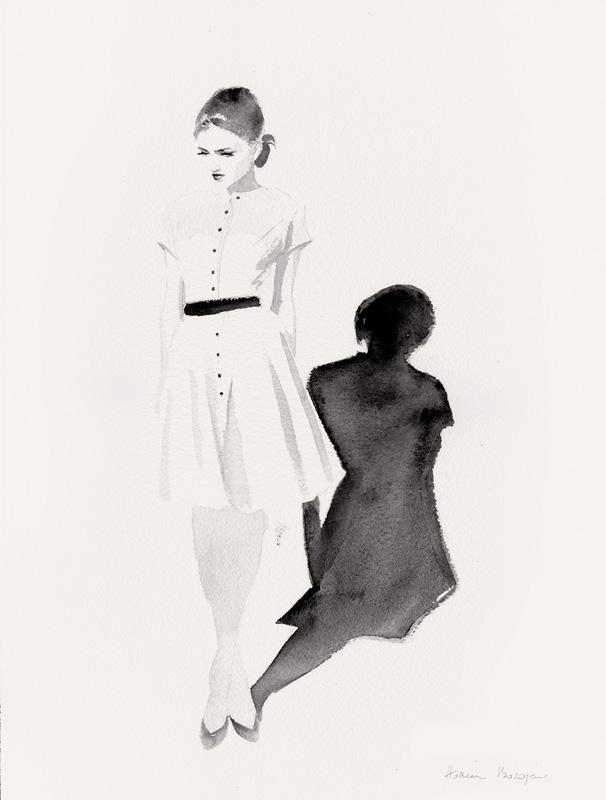 HOSSEIN BOROJENI - La petite robe blanche