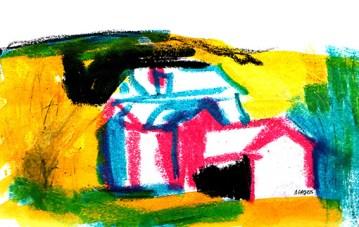 cottage-oil-pastels