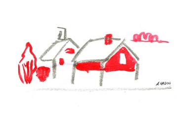 cottage-watercolor-red-gray