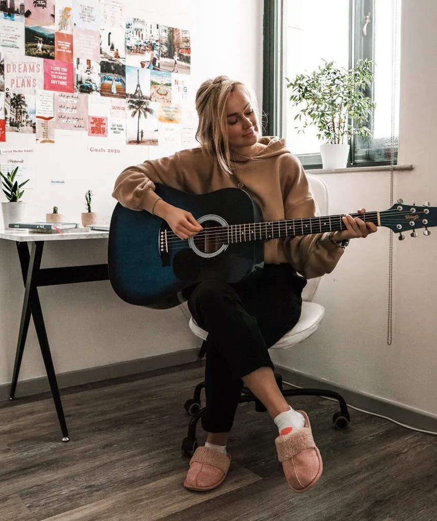 Things to do at home - play guitar